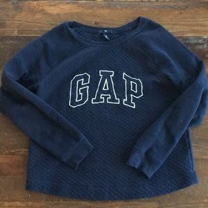 GAP quilted sweater med